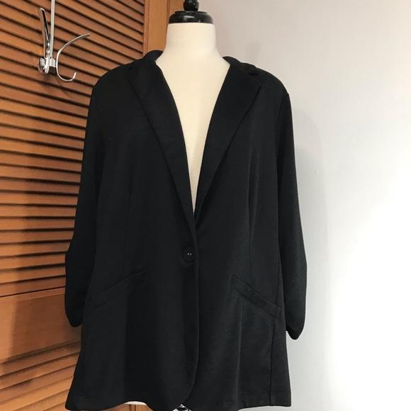 e74004f430c24 Style & Co Jackets & Coats   Style Co Womens Black Knit Blazer ...